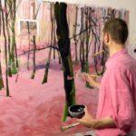 Iki Artstudio, Olivier Morel, dans l'atelier - stage de peinture, cours de peinture