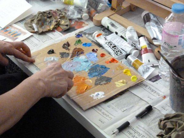 Iki Artstudio, stage de peinture acrylique, initiation