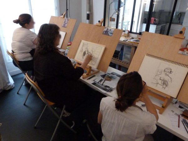 Iki Artstudio, stage de dessin, aquarelle, sanguine, fusain, watercolor, gouache, indian ink, encre de chine, pastels, images des stages