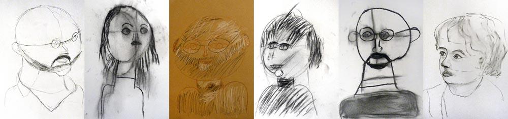 Olivier Morel Iki Artstudio portrait en famille dessin